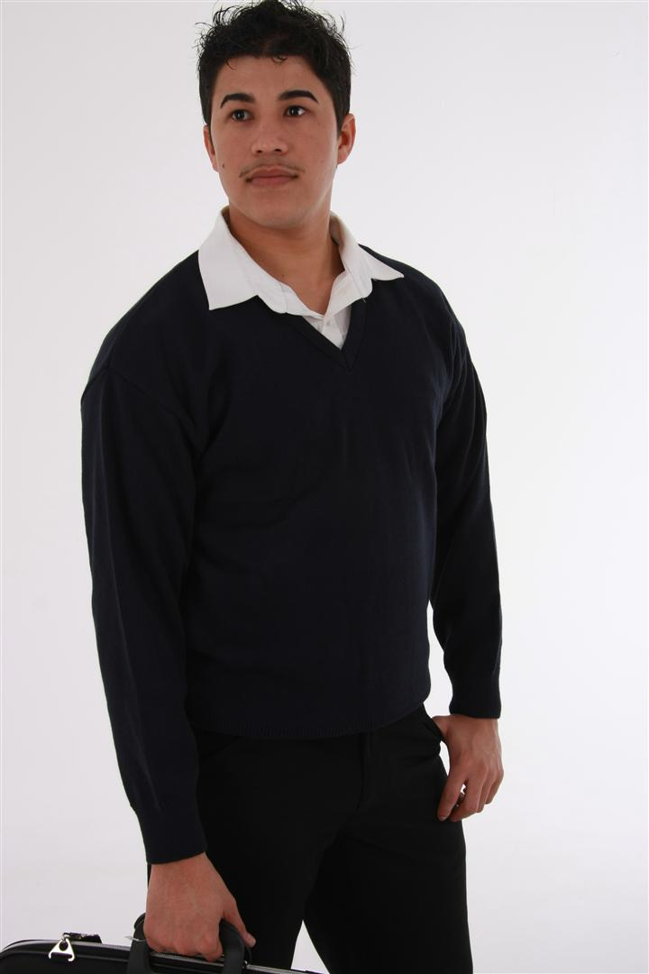 Mens Long Sleeve V Neck Elite Stitch