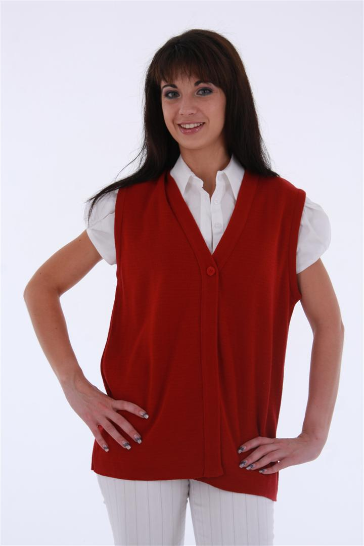 Ladies Sleeveless Compass Cardigan